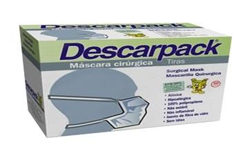 Máscara Cirúrgica c/ tiras Descarpack